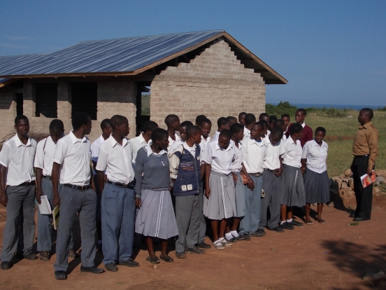The students of form 3 came to school for a photo...