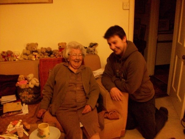 With grandson Richard, aged 96.