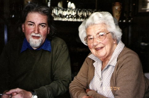 Dad and Gaggy 2004, she was 91, he was 56.