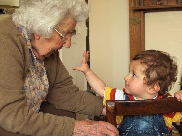 With great-grandchild, a 93 year age gap.