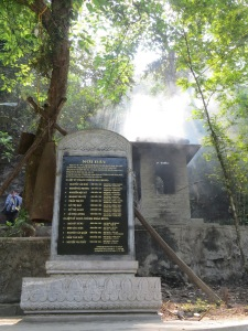 The names of those killed in the cave and those who were manning the anti-aircraft posts.