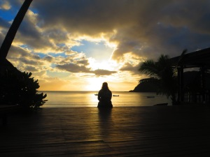 Octopus Resort, Fiji - Sitting in the sunset